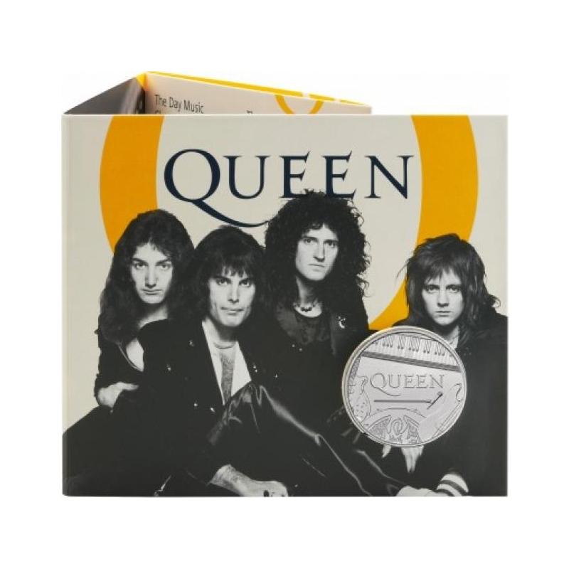 Muusika legendid - Queen  - Suurbritannia 5£ 2020.a. vask-nikkel münt