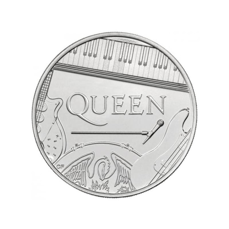 «Легенды музыки» -Queen Великобритания 1 £ 2020 г серебрянная монета 15.710 г.