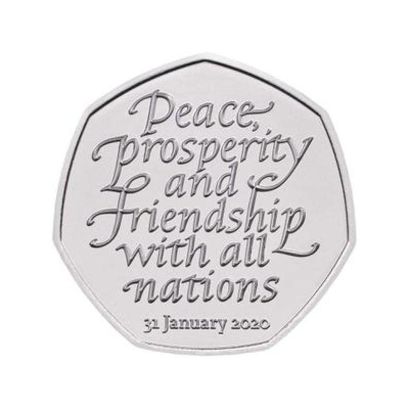 Brexit 31.01.2020  Suurbritannia 50 penni 2020.a. vask-nikkel münt