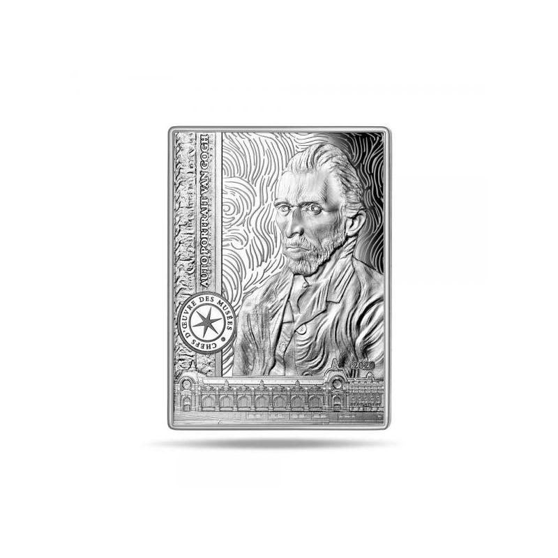 Шедевры музейной коллекции - автопортрет Винсента ван Гога  - Франция 10 € 2020 г. 90% серебряная   монета, 22,2 г.