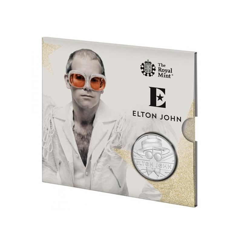 «Легенды музыки» - Элтон Джон. Великобритания 5 £ 2020 г. Mедно-никилиевая монета.
