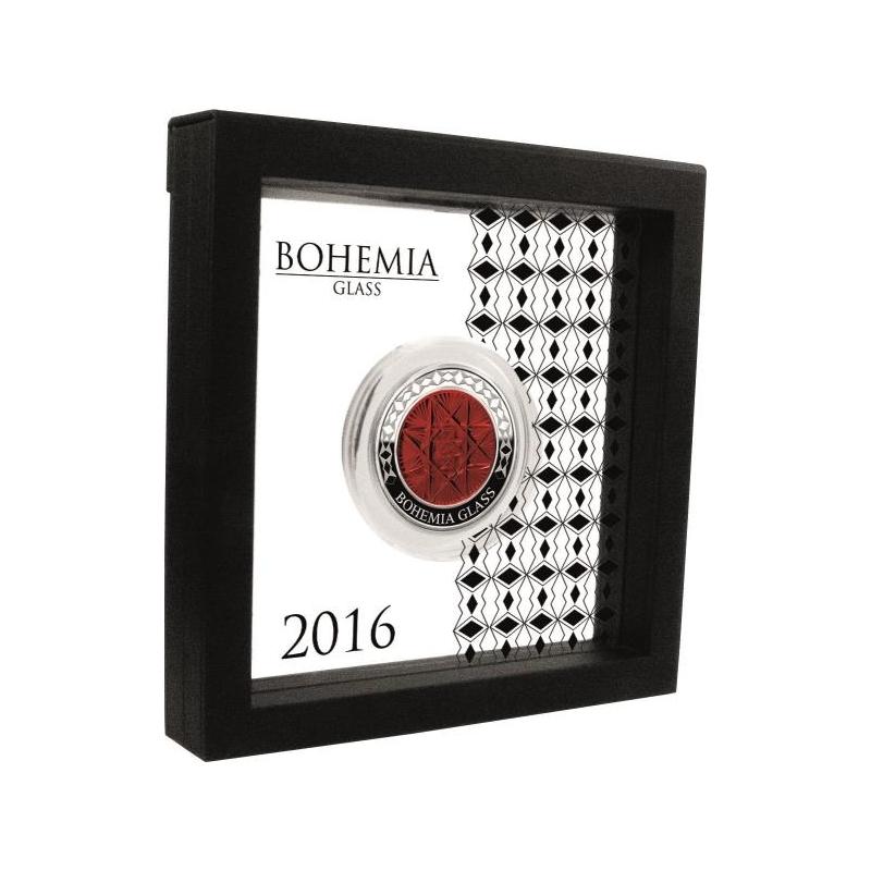 Bohemia klaas - Congo 1000 Fr. 2016.a.  Bohemia klaasist elemendiga 2untsine 99,99% hõbemünt