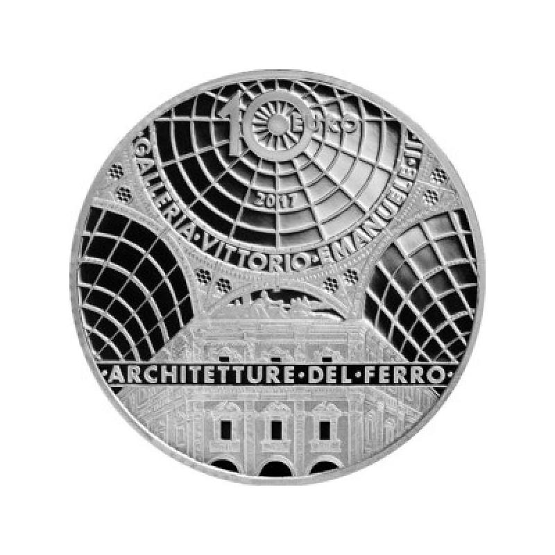 Europa 2017.a.  Raua ja klaasi aeg - Itaalia 10 €  90 % hõbemünt 22 g