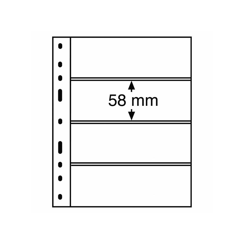 Лист OPTIMA для купюр 4х (58х180 мм)