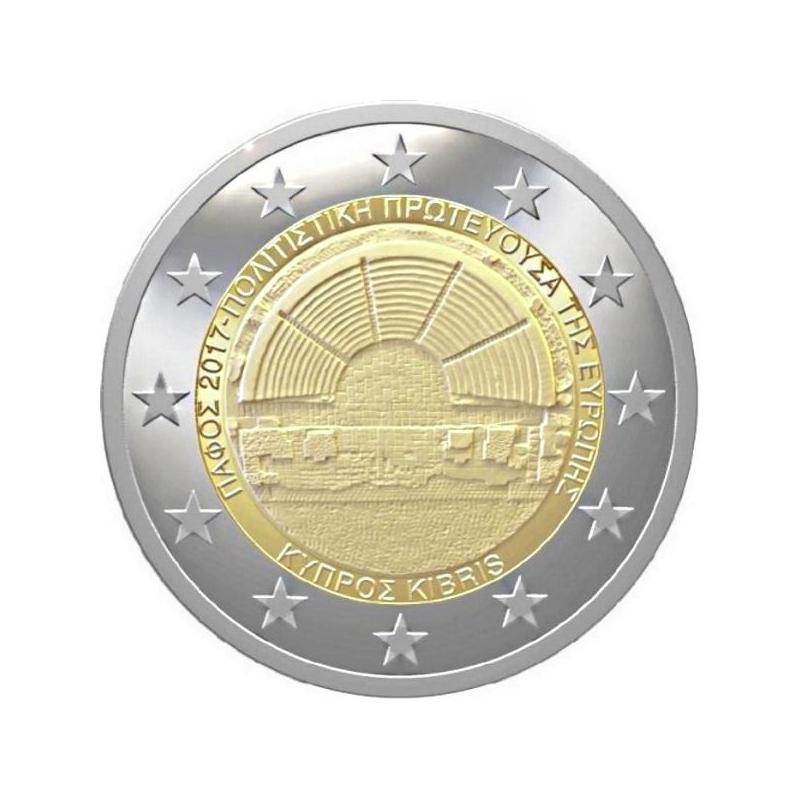 Küprose 2017 a 2€ juubelimünt  - kultuuripealinn Paphos