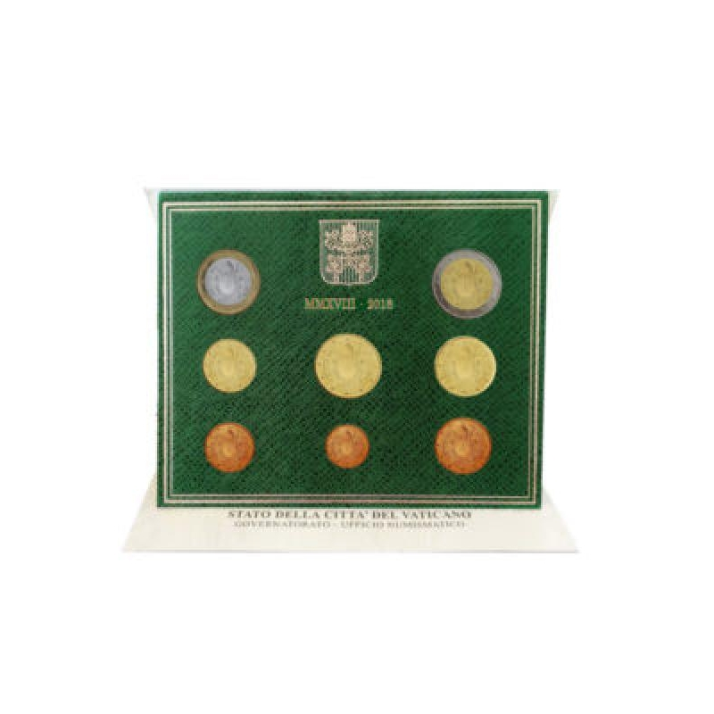 Годовой набор Евро монет Ватикан 2018 года  - комплект