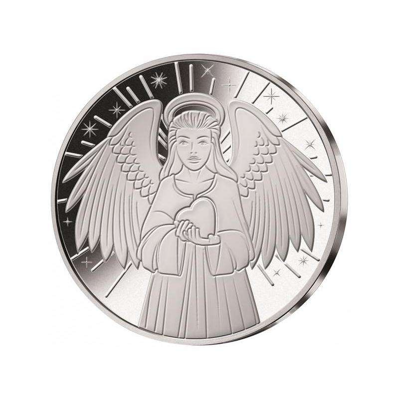 Kaitseingel - Samoa 1/2$ 2018.a. hõbetatud vask-nikkelmünt