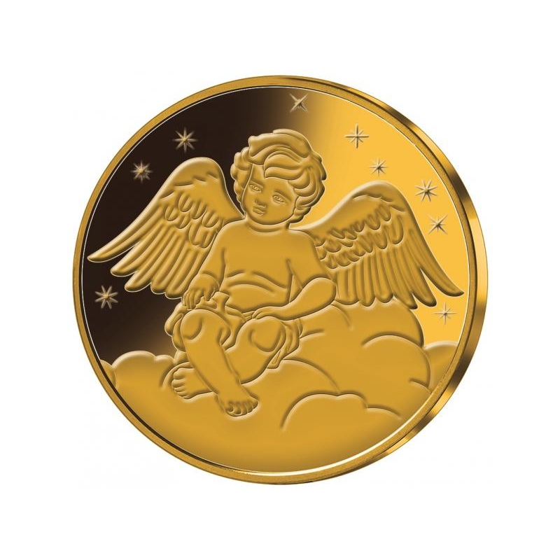 Kaitseingel - Samoa 1/2$ 2018.a. kullatud vask-nikkelmünt