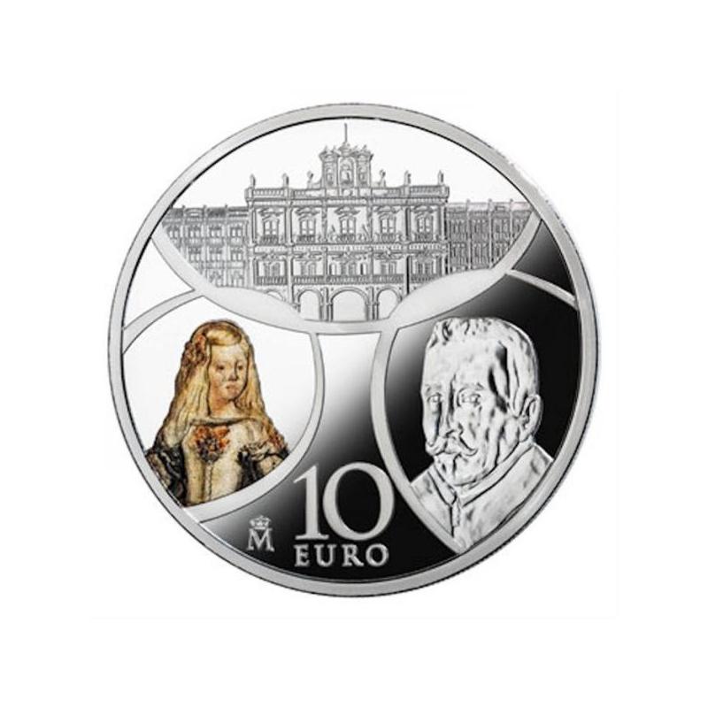 """Europa « Эпоха барокко и рококо»""""Испания 10€ 2018.г. 92,5% Серебряная монета, 27 г."""