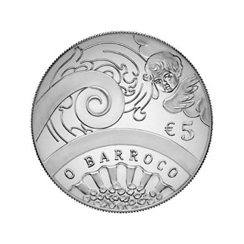 Europa 2018.a. Baroki ja Rokokoo ajastu Portugali 5€ 92,5% hõbemünt 17 g.