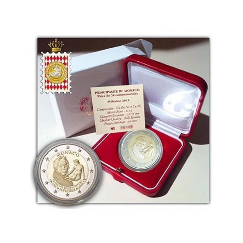 2 € юбилейная монета Монако   2018 г. -  250-лет со дня рождения Франсуа Жозеф Бозио