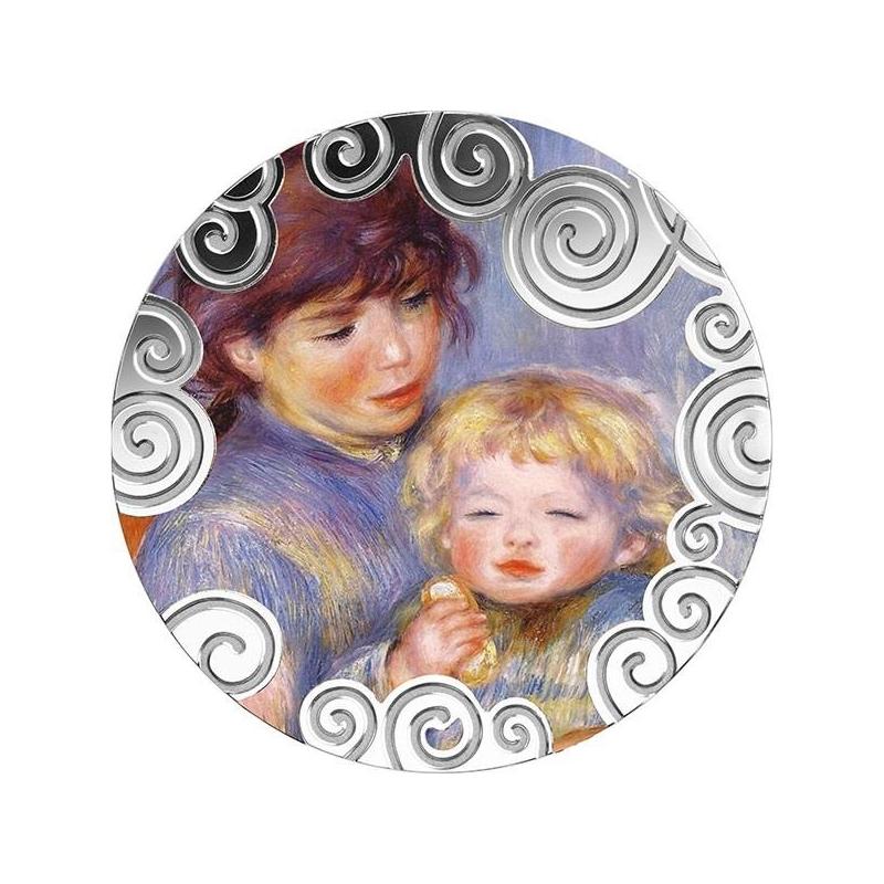 Материнство в искусстве (Maternity in art) - Камерун 1000 франк 2019 года  99,9% серебряная монета с цветной печатью, 1 унция