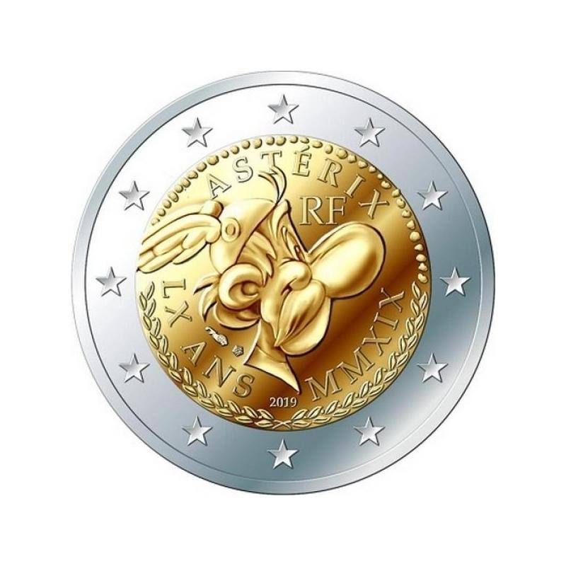 Prantsusmaa 2019. a 2 € juubelimünt - Asterixi 60. sünnipäev