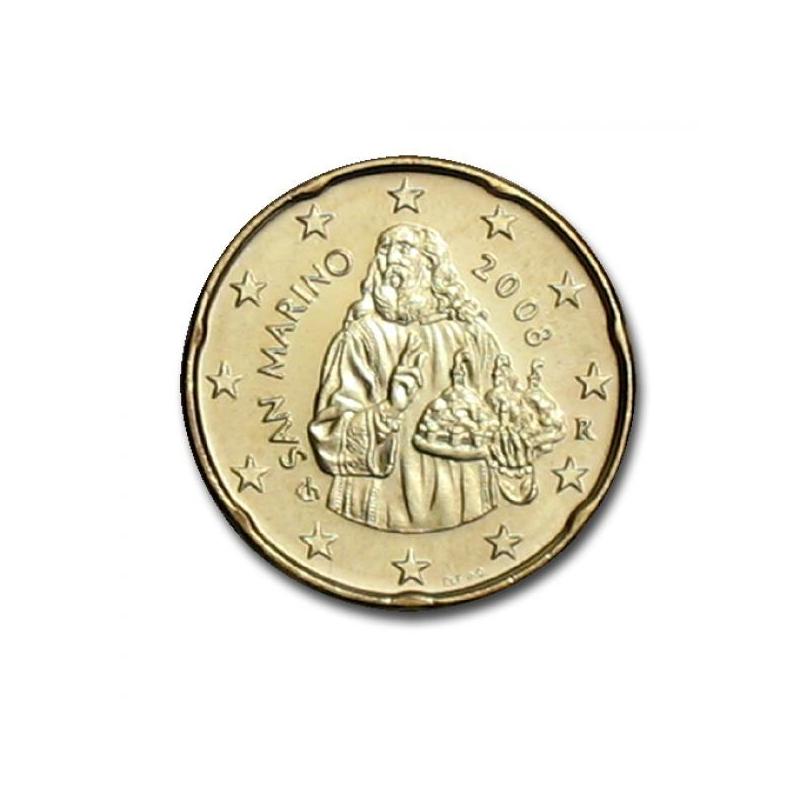 Сан - Марино 20 цент  2008. года