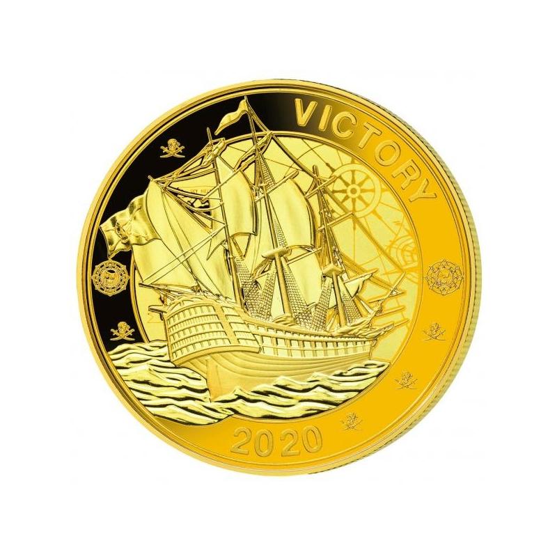 """""""Пираты Индийского океана""""- Сейшельские Острова 1 рупия 2020.г. Набор из трёх позолоченных монет"""