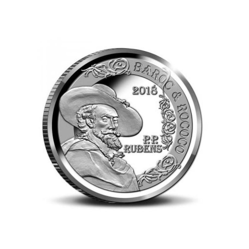 Europa 2018.a.  Belgia 92,5% hõbemünt 18,75 g  - Baroki ja Rokokoo ajastu, Rubens