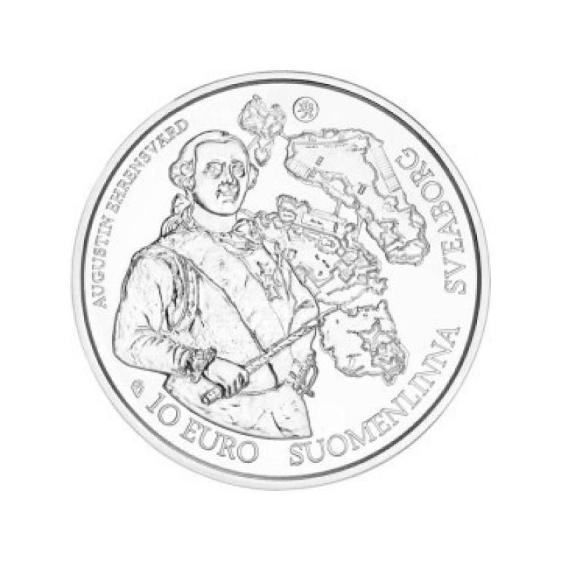 Europa 2018.a. Baroki ja Rokokoo ajastu Soome 10 € 92,5% hõbemünt 17 g.