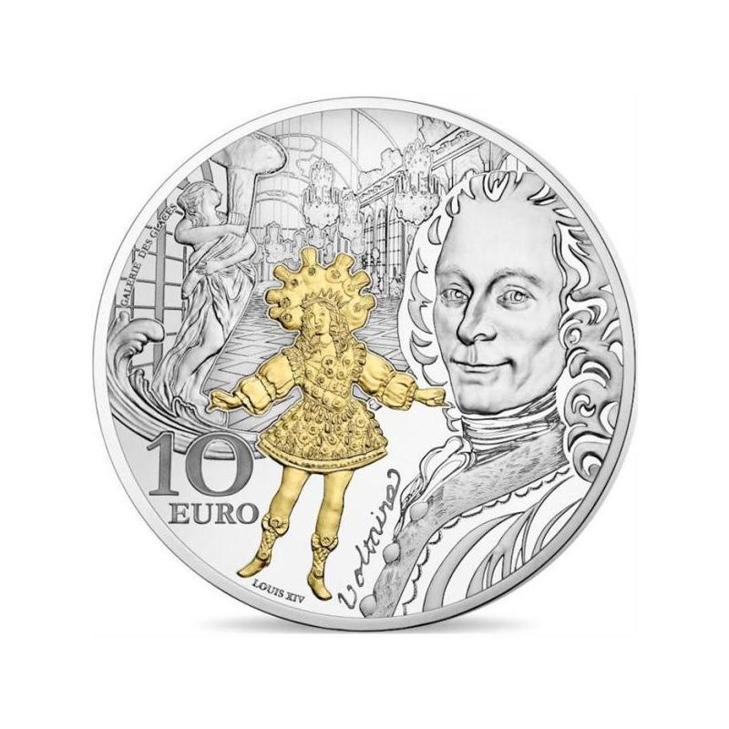 Europa 2018.a. Baroki ja Rokokoo ajastu Prantsusmaa 10€  90% hõbemünt, 22 g.