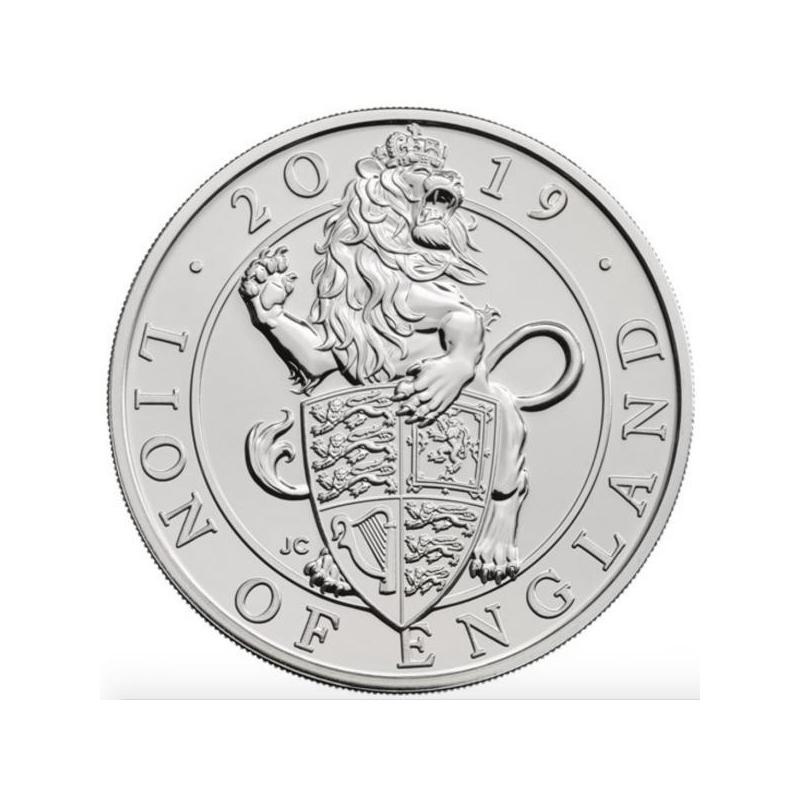 Гордость Англии -  Великобритания 5 £ 2019 года. Mедно-никилиевая монета.