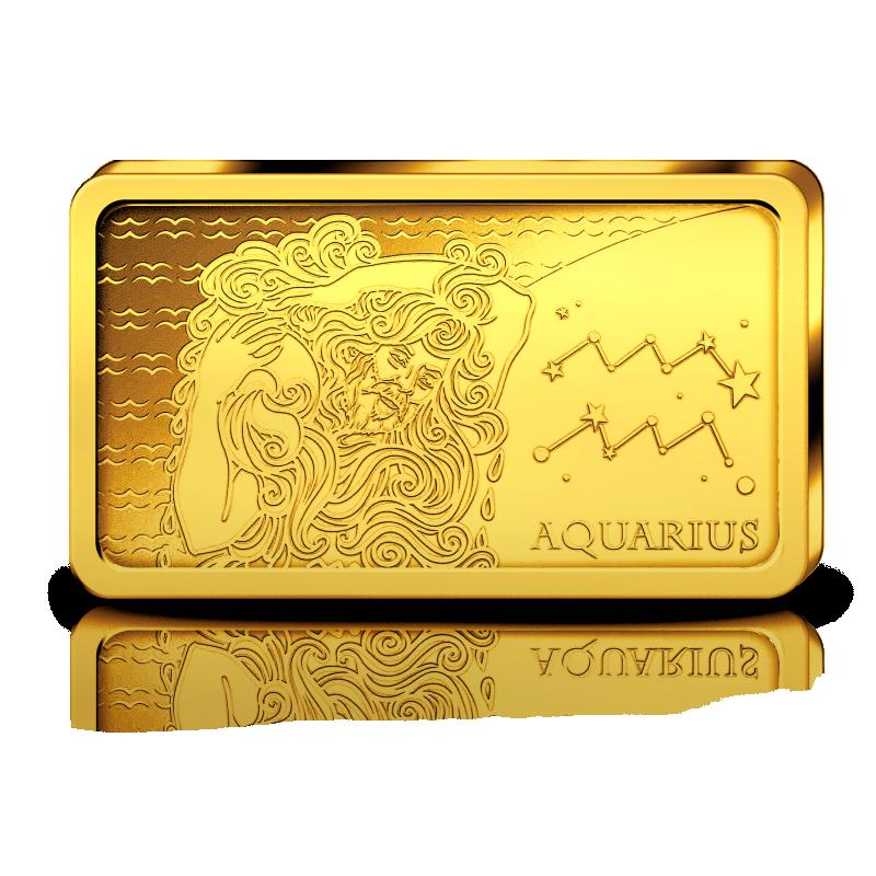 Sodiaagimärgid -Veevalaja  Saalomoni saarte 10 $ 2020.a  0,5 g 99,99% kuldmünt