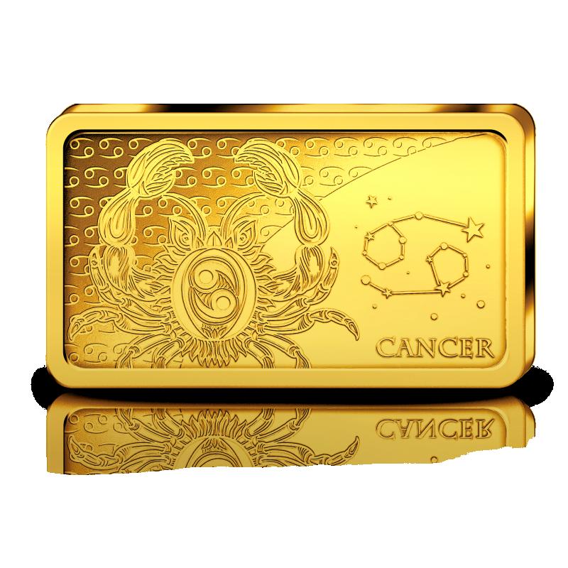 Знаки зодиака -Рак. Соломоновы Острова 10 $ 2020 г. 99,99% золотая монета. 0,5 гр