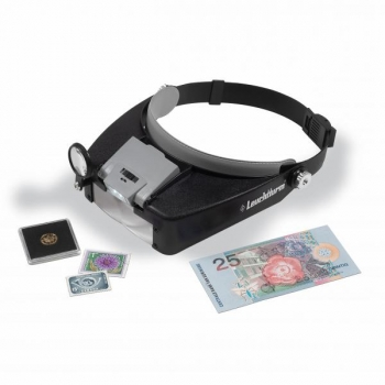 LED headband magnifier FOKUS with 1.5x up to 8x magnification