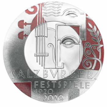 Salzburgi festivali 100. aastapäev - Austria 20 € 2020.a. 92,5% hõbemünt, 22,42 g