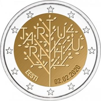 Eesti 2020 a 2€ juubelimünt - Tartu Rahulepingu 100. aastapäev