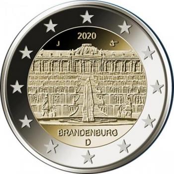 2 € юбилейная монета 2020 г. Германия - Дворец Сан-Суси в Потсдаме