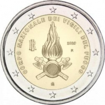 Itaalia 2020 a 2€ juubelimünt- riikliku tuletõrje- ja päästeteenistuse (Corpo Nazionale dei Vigili del Fuoco) asutamise 80. aastapäev