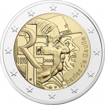 France 2€ commemorative coin 2020 - Charles de Gaulle