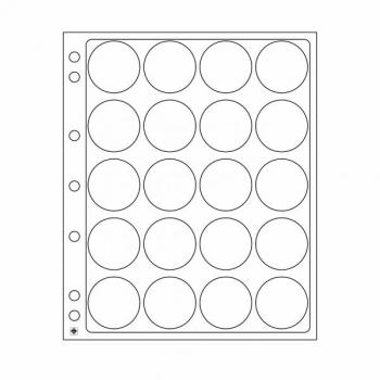 Пластиковый лист ENCAP для монет в капсуле 34/35 мм - 2 листа в упоковке