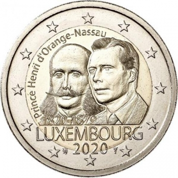 Luxembourg 2€ commemorative coin 2020 - The 200th anniversary of the birth of Prince Henri