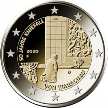 2 € юбилейная монета 2020 г. Германия - 50-летие коленопреклонения в Варшаве
