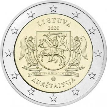 Leedu 2020 a 2€ juubelimünt  -  Aukštaitija (Leedu etnograafiliste piirkondade seeriast)