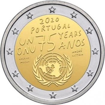 Portugal 2€ commemorative coin 2020 - 75th anniversary of the United Nations