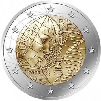 2 € юбилейная монета 2020 г. Франция - Медицинские исследования