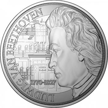 Людвиг ван Бетховен- Острова Ниуе 2$ 2020 г. 99,9% серебряная монета, 31.1 г.