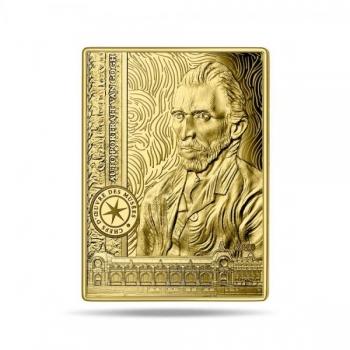 Шедевры музейной коллекции - автопортрет Винсента ван Гога  - Франция 50 € 2020 г. 99,99% золотая монета, 1/4 унцй