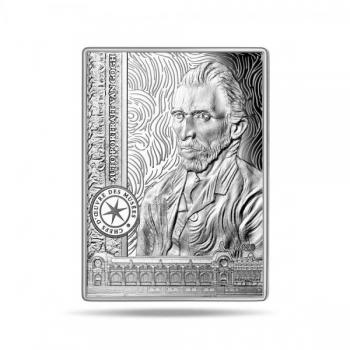 Muuseumi kollektsiooni meistriteosed. Vincent van Gohg Autoportree -  Prantsusmaa 10€ 2020.a.  90% hõbemünt. 22.2 g