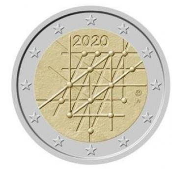 Suomi 2€ erikoisraha 2020 - Yliopisto ja yhteiskunta – Turun yliopisto 100 vuotta