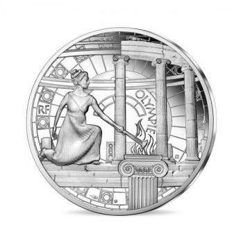 Olympia (Kreikka) Ranska 10€ 2020.v.  90 % hopearaha,  22.2 g