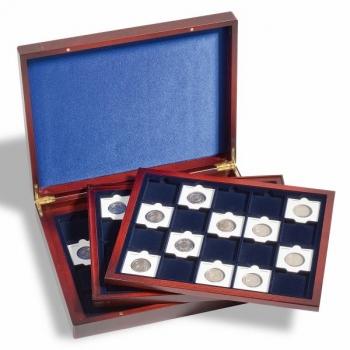 Esittelylaatikko VOLTERRA TRIO de LUXE 60 kolikoille Quadrum kapseleissa