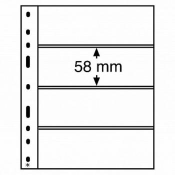 Optima margileht 4 vahega (58 x 180 mm), must tasust