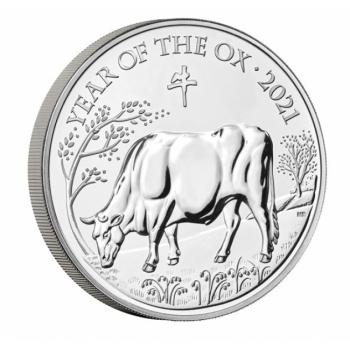 Pühvli aasta 2021  Suurbritannia 5 £ 2021.a. vask-nikkel münt