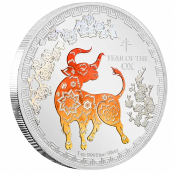 Lunar Year of the Ox 2021 Niue 2$ 1 oz 99,9% silver coin