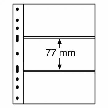 Optima margileht 3 vahega (77 x 180 mm) must taust