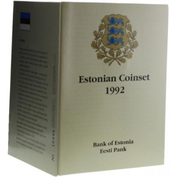 Эстонскавя крона набор монет Эстонии 1992 года - комплект