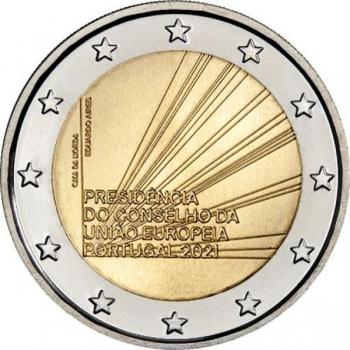 Portugali  2021. a 2€ juubelimünt -Portugal kui Euroopa Liidu Nõukogu eesistujariik