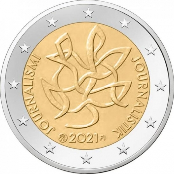 Finland 2€ commemorative coin 2021  - Journalism and Open Communication Supporting the Finnish Democracy